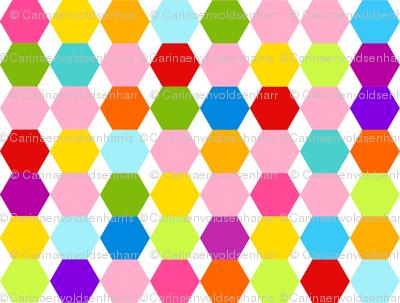 Multi Colour Hexagons