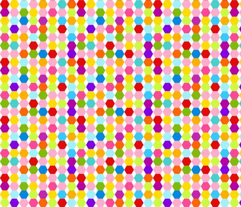 Multi Colour Hexagons fabric by carinaenvoldsenharris on Spoonflower - custom fabric