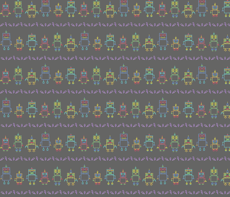 the Distant Future (Grey) fabric by leighr on Spoonflower - custom fabric