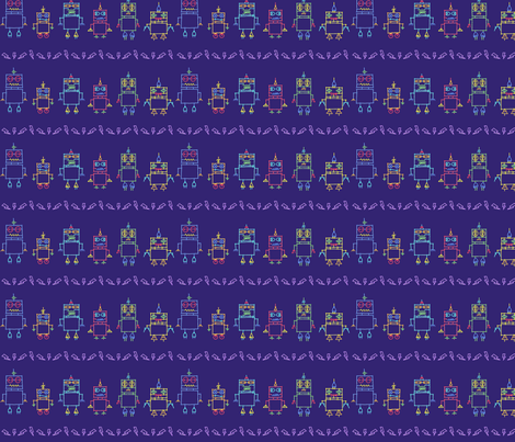 the Distant Future (Royal) fabric by leighr on Spoonflower - custom fabric