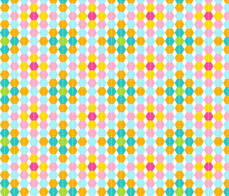 Stripy Hexagon fabric by carinaenvoldsenharris on Spoonflower - custom fabric