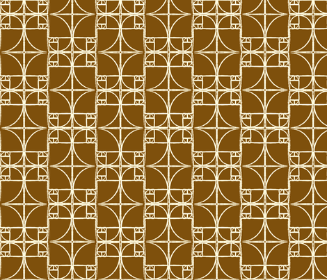 Milk Chocolate Brown Fibonacci Spiral fabric by pantsmonkey on Spoonflower - custom fabric