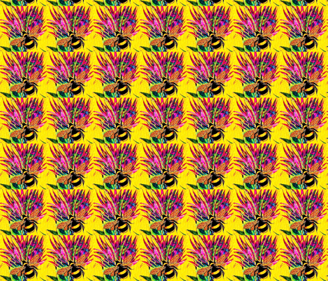 Bee Balm 2 fabric by frances_hollidayalford on Spoonflower - custom fabric