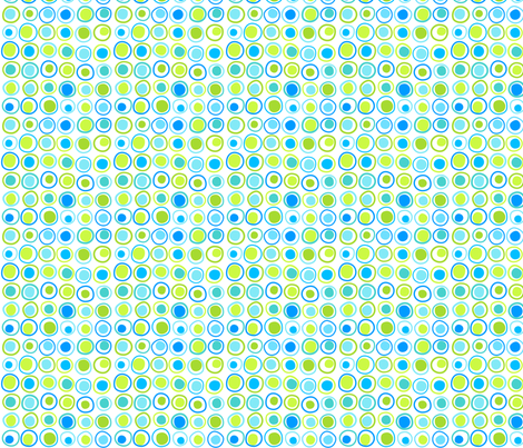 Wonky Dots Cool fabric by carinaenvoldsenharris on Spoonflower - custom fabric