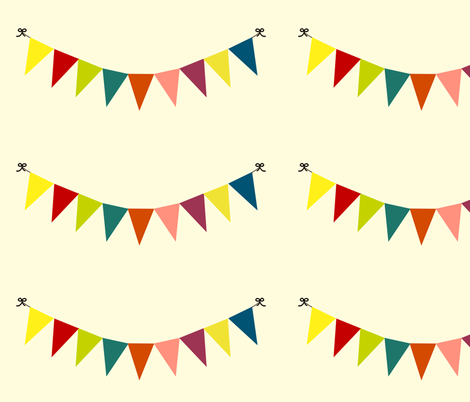 celebrate bunting grand scale fabric by amybethunephotography on Spoonflower - custom fabric
