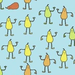 Dancing Pears Blue