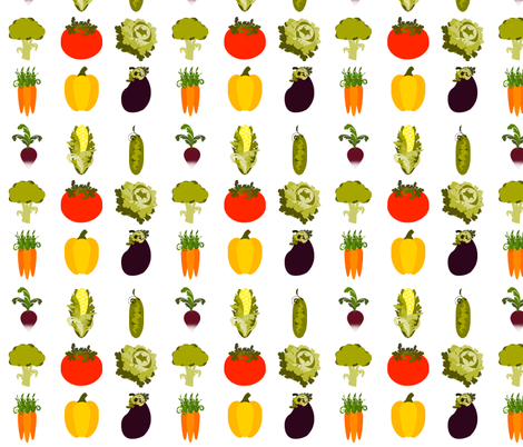 Eat Your Veggies fabric by 13blackcatsdesigns on Spoonflower - custom fabric