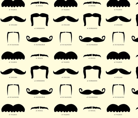mustache gallery fabric by avelis on Spoonflower - custom fabric