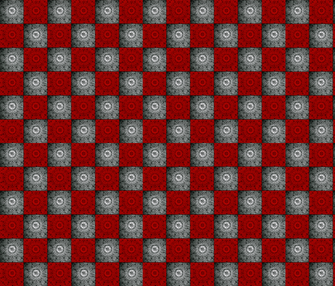 Red and Silver Textured Checkerboard. fabric by whimzwhirled on Spoonflower - custom fabric