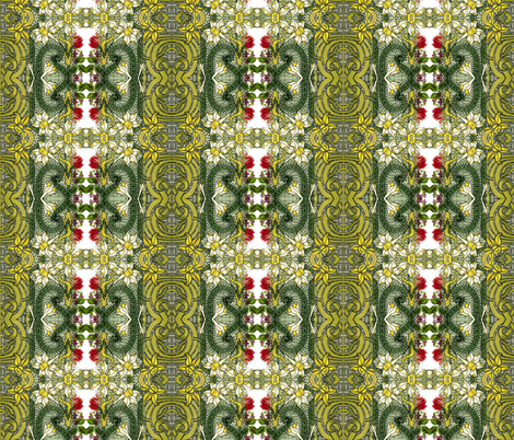 Daffodils  fabric by whimzwhirled on Spoonflower - custom fabric