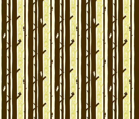 Forest of Squirrels fabric by ttoz on Spoonflower - custom fabric