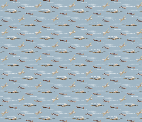 Vintage Aeroplanes fabric by themagpiecat on Spoonflower - custom fabric