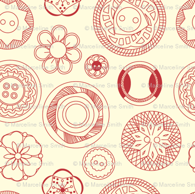 Vintage Buttons (red)