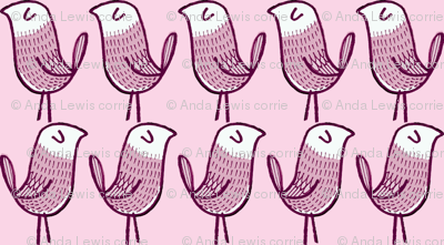lilac marching birds