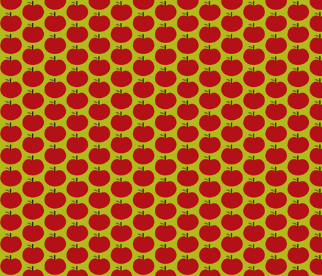 Sweet Red Apples fabric by wastenotsaks on Spoonflower - custom fabric