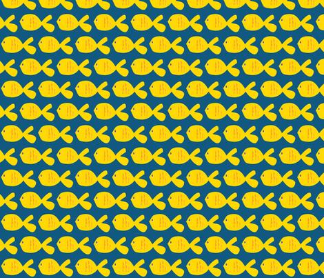 Here Fishy Fishy fabric by wastenotsaks on Spoonflower - custom fabric
