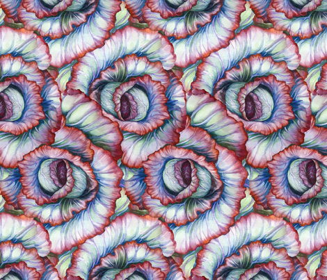 Spiral Cabbage fabric by helenklebesadel on Spoonflower - custom fabric