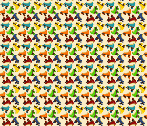 Rollerskates fabric by nuuk on Spoonflower - custom fabric