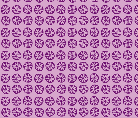 lotus root - purple fabric by clearlytangled on Spoonflower - custom fabric