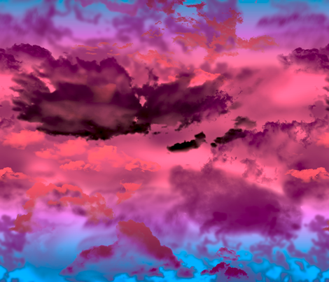 Twilight Sky fabric by carrielouise on Spoonflower - custom fabric
