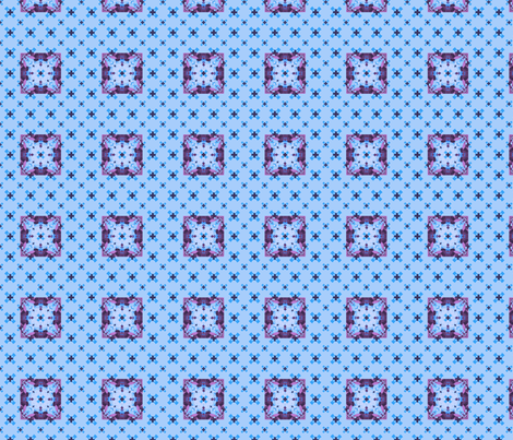 crosses_border_blue_violet_FotoFlexer_Photo fabric by khowardquilts on Spoonflower - custom fabric