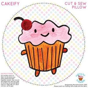 Cakeify the happy cupcake Mini Pillow