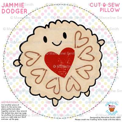 Jammie Dodger Mini Pillow