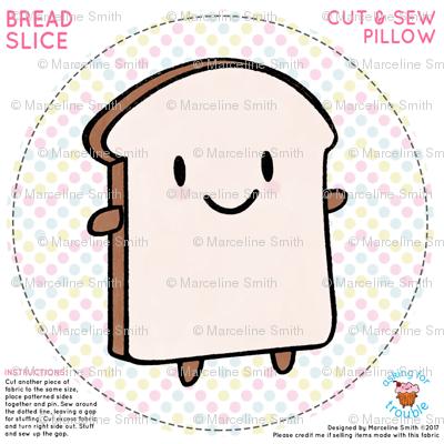 Bread Slice Mini Pillow