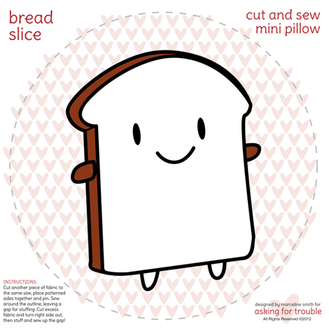 Bread Slice Mini Pillow fabric by marcelinesmith on Spoonflower - custom fabric