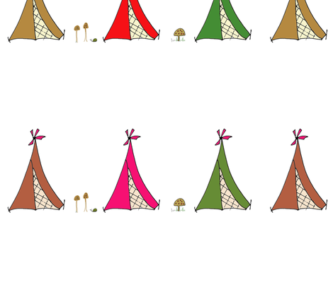tents fabric by 5u5an on Spoonflower - custom fabric