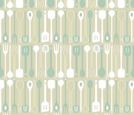 Spooner in duckegg fabric by onelittlebird on Spoonflower - custom fabric