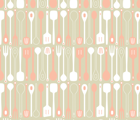 Spooner in sugar ice fabric by onelittlebird on Spoonflower - custom fabric