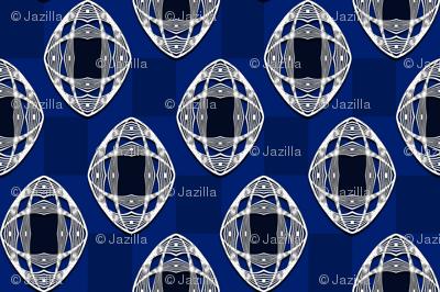 Nouveau Eye Checkerboard Cobalt