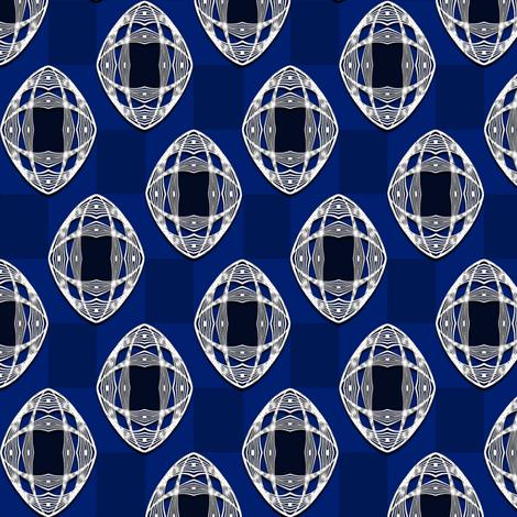 Nouveau Eye Checkerboard Cobalt fabric by jazilla on Spoonflower - custom fabric