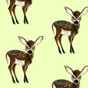 Fawn on pale green