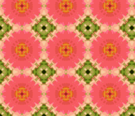 kaleidoscope_zinnia_Picnik_collage fabric by khowardquilts on Spoonflower - custom fabric