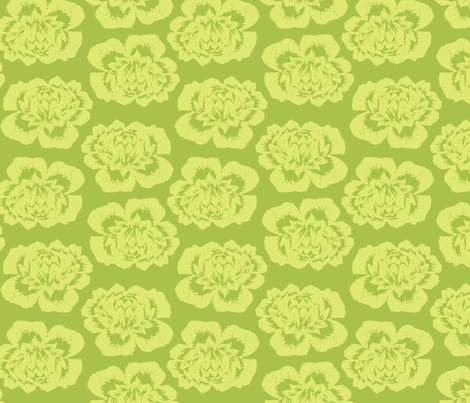 Green Roses fabric by natalie on Spoonflower - custom fabric