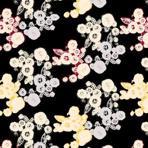 hand stitched flora