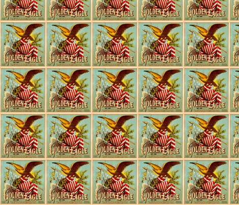 Golden Eagle Tattoos fabric by captiveinflorida on Spoonflower - custom fabric