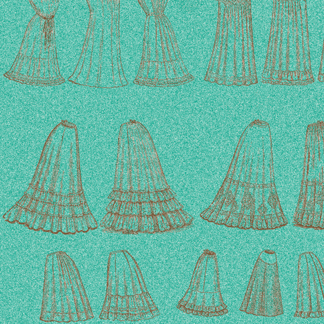 Victorian Lingerie-tealish fabric by nalo_hopkinson on Spoonflower - custom fabric