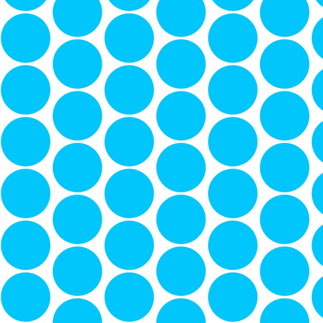 Retro Blue Dots fabric by whimzwhirled on Spoonflower - custom fabric