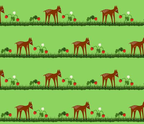 deer fabric by rose'n'thorn on Spoonflower - custom fabric