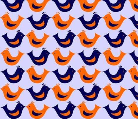 birdie fabric by rose'n'thorn on Spoonflower - custom fabric