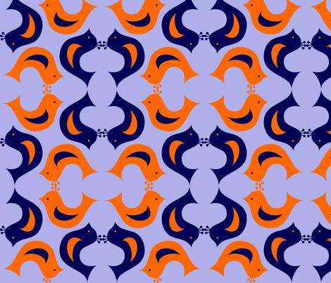 birdie2 fabric by rose'n'thorn on Spoonflower - custom fabric