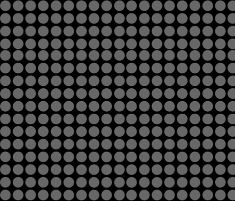 Black with grey dots fabric by whimzwhirled on Spoonflower - custom fabric