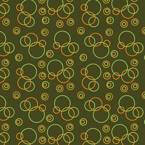 green and orange circles