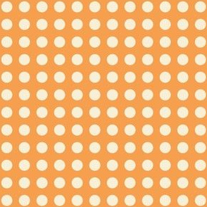 orange polka  dots