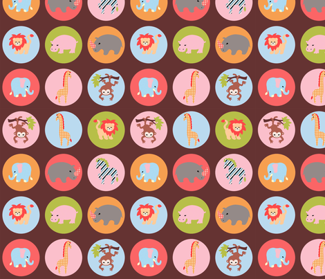 safari dots chocolate fabric by mytinystar on Spoonflower - custom fabric