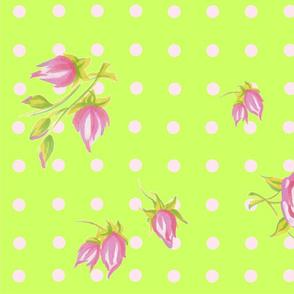 Shabby Roses green
