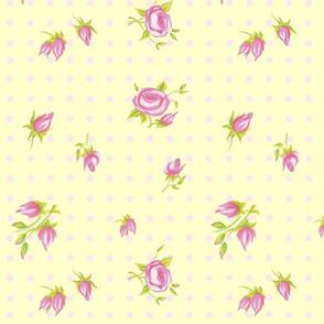 Mini Roses vintage yellow